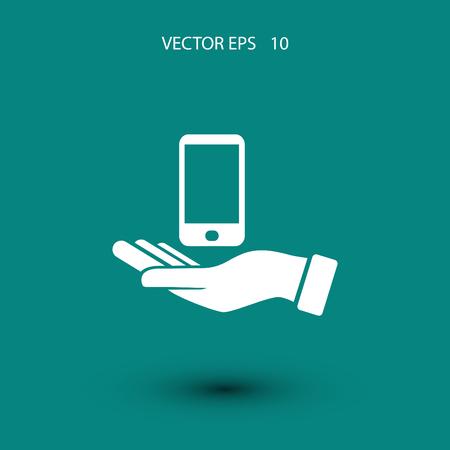 capture: Capture Mobile icon, flat design best vector icon Illustration