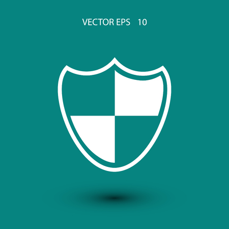 honour guard: Shield sign icon, flat design best vector icon