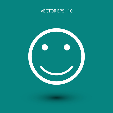 incomprehensible: smiles icon vector, flat design best vector icon Illustration