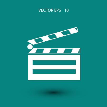 cinematography: set icons cinematography cinema icon, flat design best vector icon