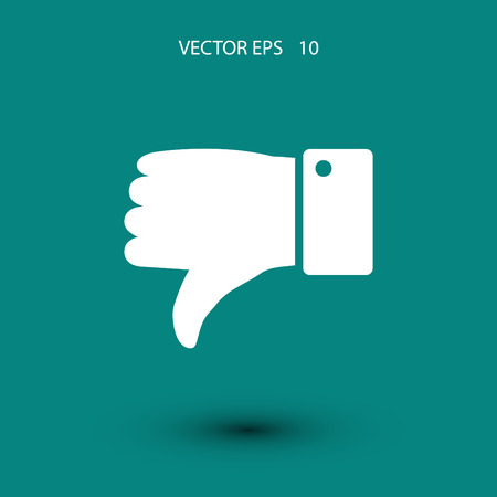 disagree: disagree flat design best vector icon