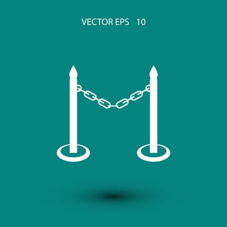 perimeter: barricade icon vector, flat design best vector icon