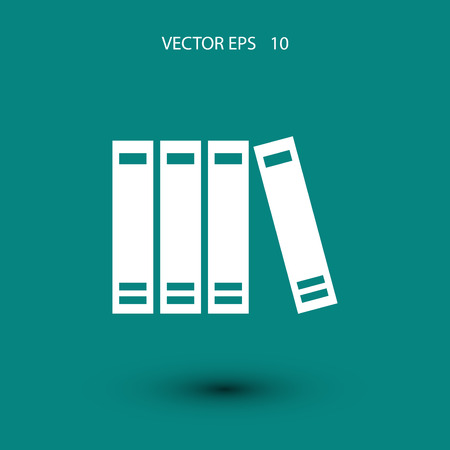 best book: book icon vector, flat design best vector icon Illustration