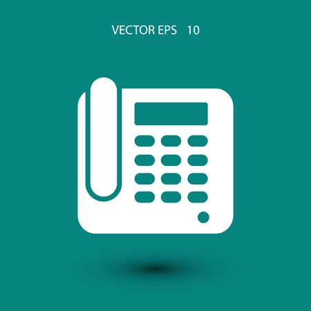 ring tones: Office Phone Icon, flat design best vector icon