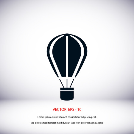 bailout: parachute icon vector, flat design best vector icon