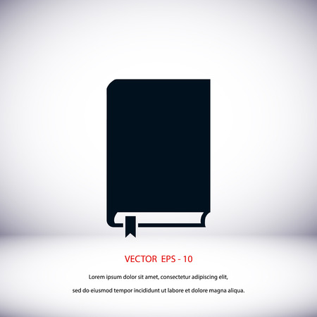 graphic novel: Book icon vector, flat design best vector icon