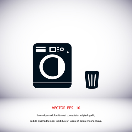 bleach: Laundry icons vector, flat design best vector icon Illustration