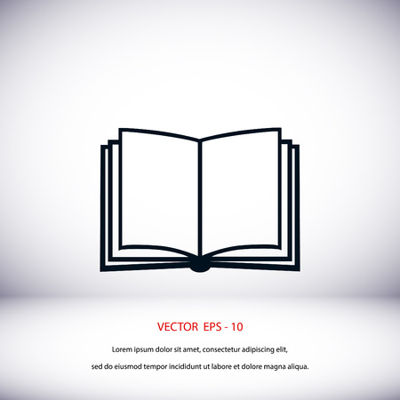 best book: Book icon isolated on whitebackground, flat design best vector icon Illustration