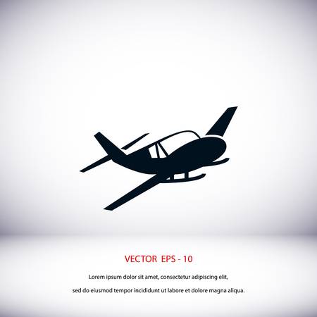 planos electricos: Airplane icon, flat design best vector icon