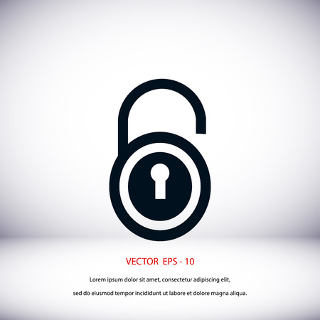 lock icon vector, flat design best vector icon