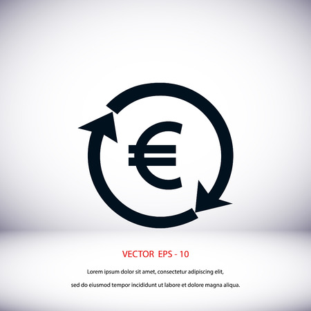 refresh rate: money convert icon, flat design best vector icon