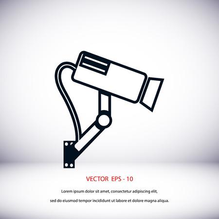 Surveillance Camera icon, flat design best vector icon