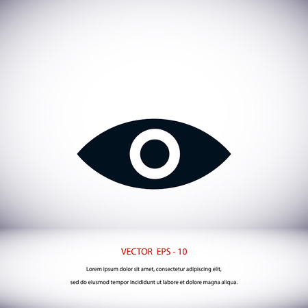 black eye: Eye icon vector, flat design best vector icon