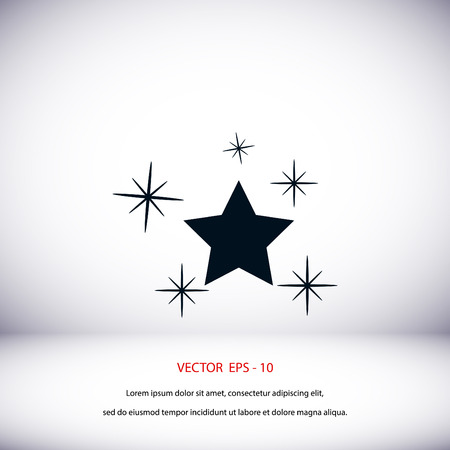 Star vector icon, flat design best vector icon