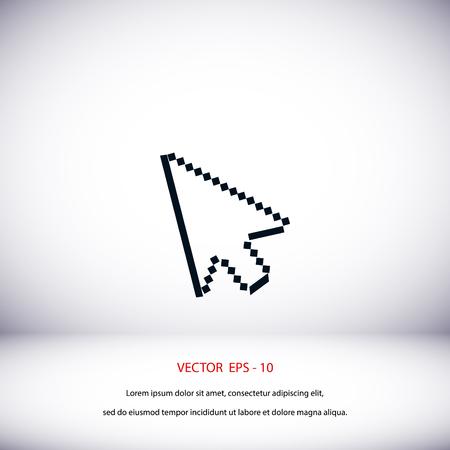 clique: computer arrow icon, flat design best vector icon