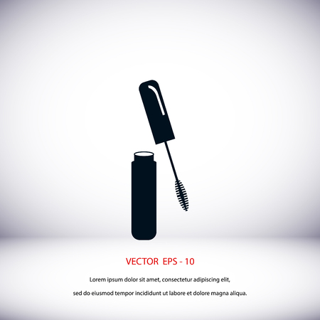Mascara vector icon, flat design best vector icon Illustration