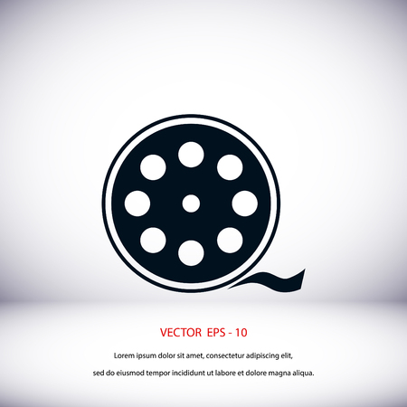 videocamera: Videocamera Single icon, flat design best vector icon Illustration