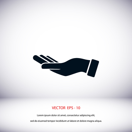 Hand icon vector, flat design best vector icon
