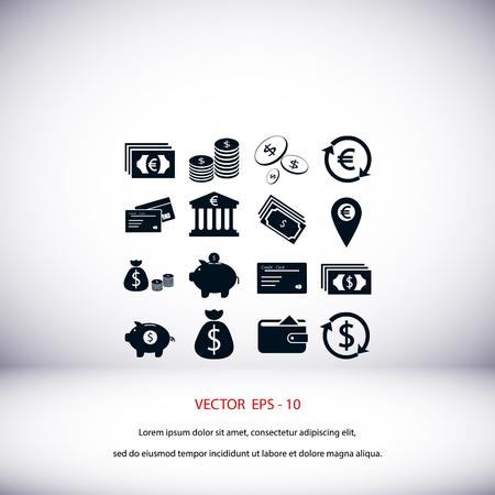 Finance Icons vector, flat design best vector icon Illustration