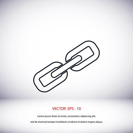 pressure linked: Chain link icon vector, flat design best vector icon