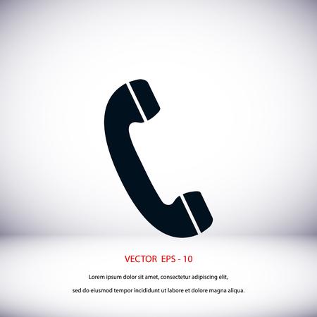 telephone: Telephone receiver vector icon, flat design best vector icon