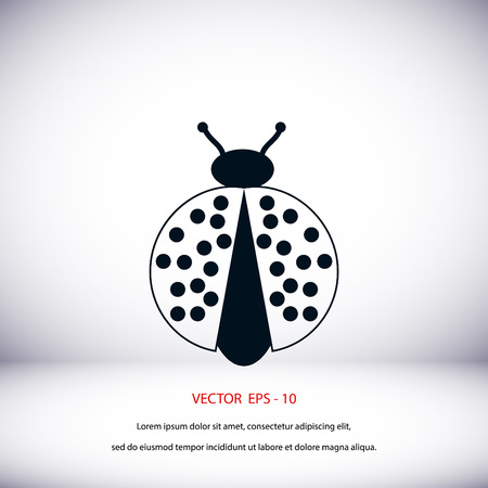 ladybird: ladybird icon vector, flat design best vector icon