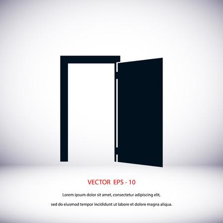 door icon: Door icon vector, flat design best vector icon