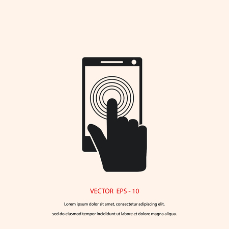tabletpc: Smartphone icon vector, flat design best vector icon Illustration