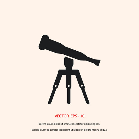 ocular: Telescope icon vector, flat design best vector icon