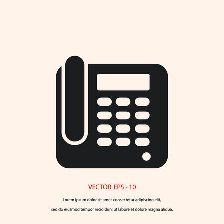 conferencing: Office Phone Icon, flat design best vector icon