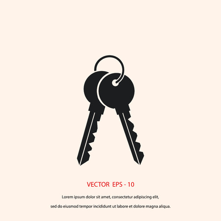 Keys Icon vector, flat design best vector icon