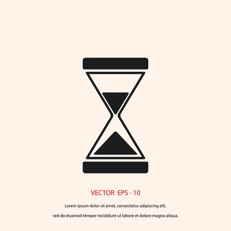 timepieces: hourglass icon vector, flat design best vector icon
