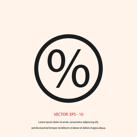 percent icon vector, flat design best vector icon