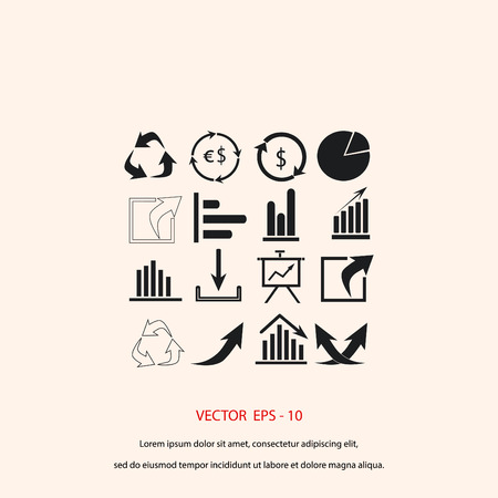 Chart icon vector, flat design best vector icon Illustration