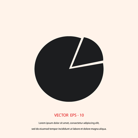 sign simplicity: graphic vector icon, flat design best vector icon