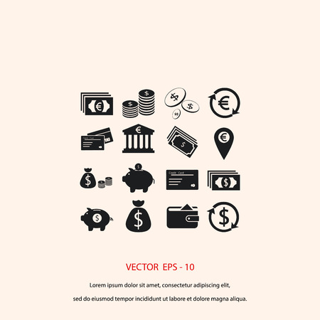 simplus: Finance Icons vector, flat design best vector icon Illustration