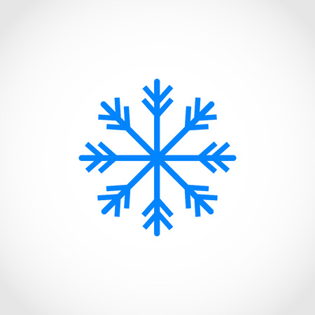 lightweight ornaments: snowflake icon vector, flat design best vector icon