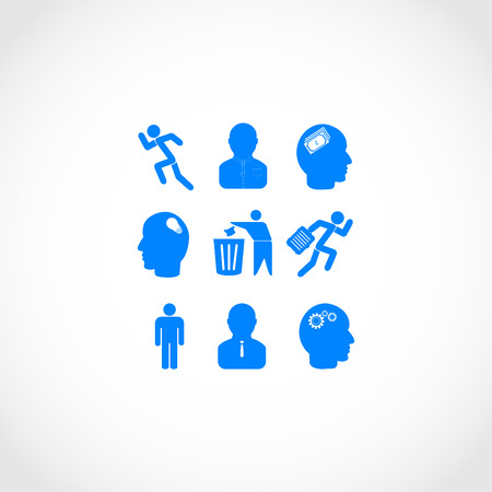 businessman carrying a globe: working businessman icon, flat design best vector icon
