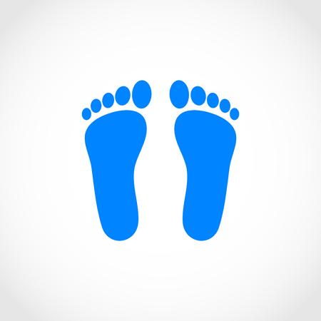 alibi: foot vector icon, flat design best vector icon