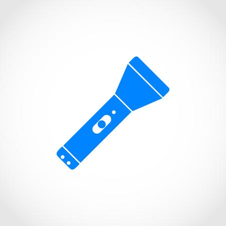 flashlights: Flashlight flat icon, flat design best vector icon