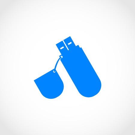 pendrive: flash drive icon, flat design best vector icon