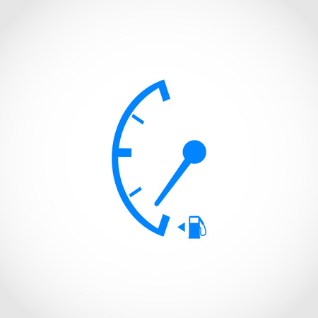 Low fuel sign  isolated icon, flat design best vector icon