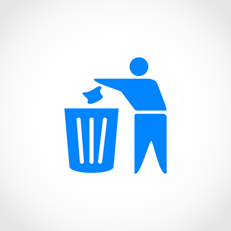 Recycling sign icon, flat design best vector icon