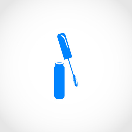 long eyelashes: Mascara vector icon, flat design best vector icon Illustration