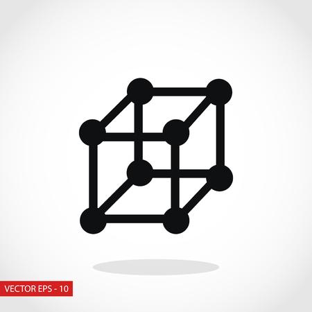 cube icon vector, flat design best vector icon