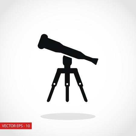 Telescope icon vector, flat design best vector icon Vector Illustration