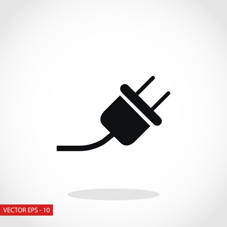 electrical plug: electrical plug icon, flat design best vector icon