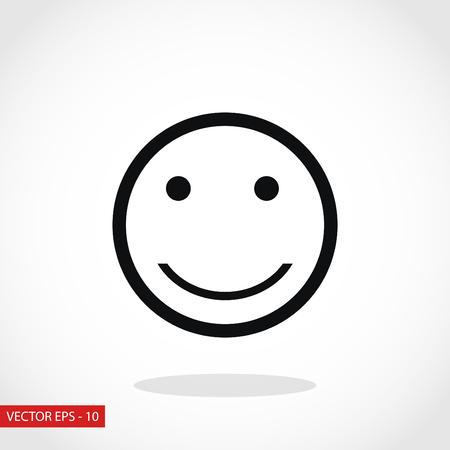 glimlach pictogram vector, platte ontwerp beste vector icon