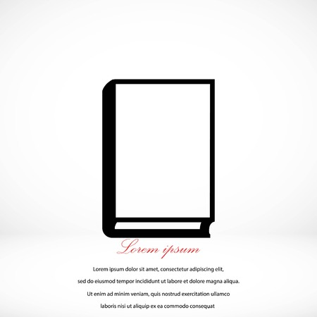graphic novel: book vector icons,flat design best vector icon