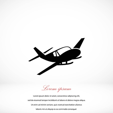 privat: Airplane icon, flat design best vector icon